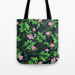 Forest Wildflowers / Dark Background Tote Bag