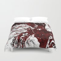 daryl Duvet Covers featuring Walking Dead: Daryl by André Joseph Martin