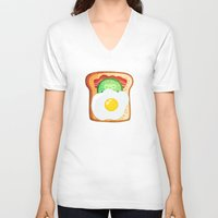 good morning V-neck T-shirts featuring Good morning by Anna Alekseeva kostolom3000