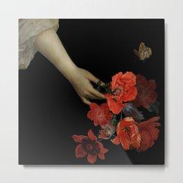 Jan Davidsz. de Heem Midnigh Hand Holding Bouquet Of Flowers I Metal Print