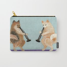 Pomeranian Dogs Playing Clarinets Carry-All Pouch