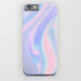 Abstract iridescent holographic pink lavender purple pattern iPhone Case