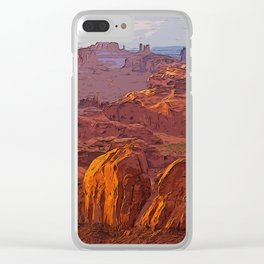 Arizona Monument Valley Clear iPhone Case