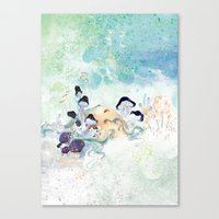 mushroom Canvas Prints featuring mushroom by ARTION