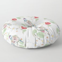 Partridge in a Pear Tree Floor Pillow
