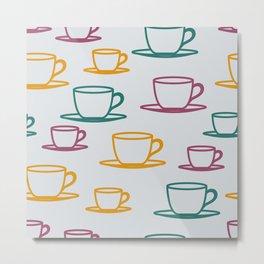Teacups - multicolored Metal Print