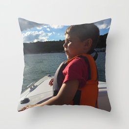 Captain Boo Throw Pillow