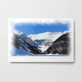 Lake Louise in Banff National Park Metal Print
