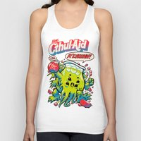 bag Tank Tops featuring CTHUL-AID by BeastWreck