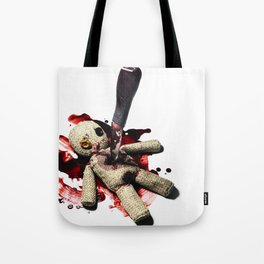 Sack Voodoo doll and bloody knife Tote Bag
