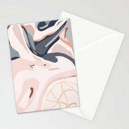 Elegant Zen Marbled Effect Design Stationery Cards