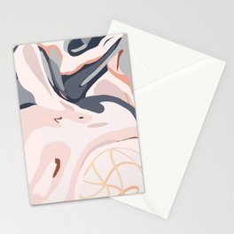 Elegant Zen Marbled Effect Design Stationery Cards
