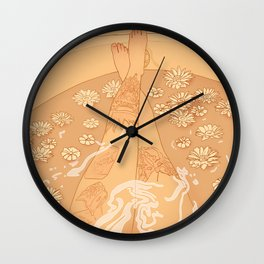 Flower Bath 10 (uncensored version) Wall Clock