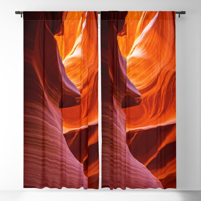 A Sculpture Of Nature Antelope Canyon Arizona Landscape Blackout Curtain By Landscapephotoart Society6