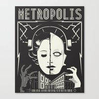 metropolis Canvas Prints featuring Metropolis by parallelish