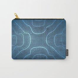 Chladni Pattern - Light Blue by Spencer Gee Carry-All Pouch
