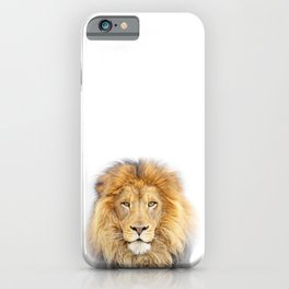 Lion Animals Art by Zouzounio Art iPhone Case