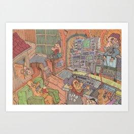 Studio Session Art Print