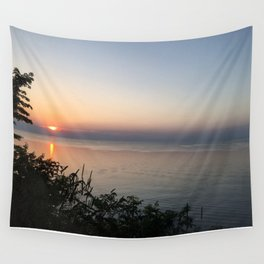 Sunset on the Lake Wall Tapestry