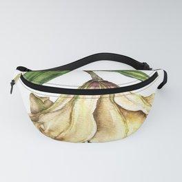 Botanical Art - White Lily Fanny Pack