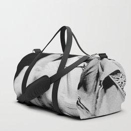 Johnny Cash Flipping the Bird Premium Paper Poster Duffle Bag