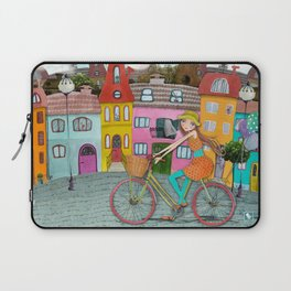 Bicycle and Balloons Laptop Sleeve