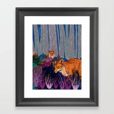 night hunt Framed Art Print