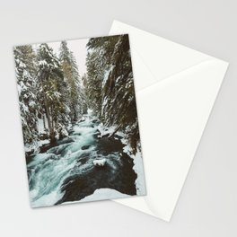 The Wild McKenzie River Portrait - Nature Photography Stationery Cards