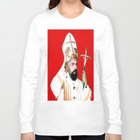 chad wys Long Sleeve T-shirts featuring pope chad by Chad M. White