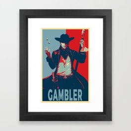 Elect the Gambler Framed Art Print