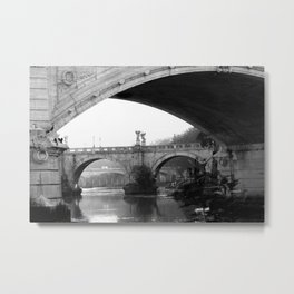Sant'Angelo Bridge Rome Metal Print