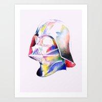 darth vader Art Prints featuring Darth Vader by Elliot Sloss