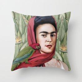Frida Vida Throw Pillow