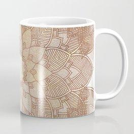 DESERT QUEEN - Bronze Mandala on Gold Coffee Mug
