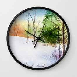 Winter Forest 5 Wall Clock