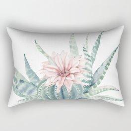 Petite Cactus Echeveria Rectangular Pillow