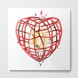 Take Care of My Heart, Valentine Metal Print