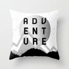 Adventure Silver Sunrise Throw Pillow