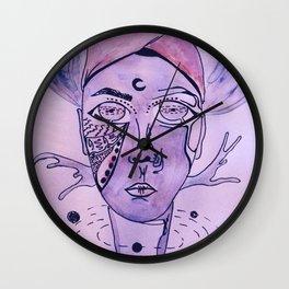 The King of The Purple Galaxy Wall Clock