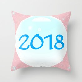2018 Christmas And New Year Throw Pillow