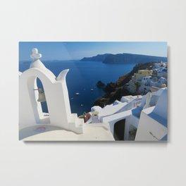 Oia Santorini c Metal Print