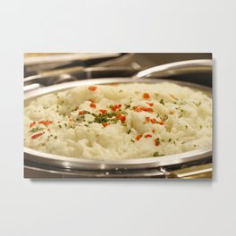 Mashed Potatoes Metal Print