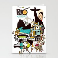 rio de janeiro Stationery Cards featuring RIO DE JANEIRO by Valter Brum