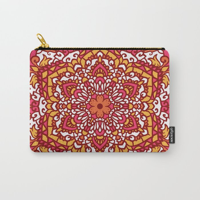 Vintage Mandala Flower Decoration 2 Carry-All Pouch