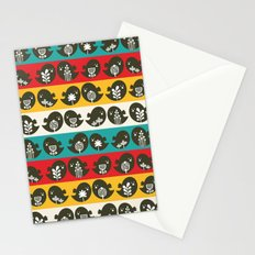 Birds in line. Stationery Cards