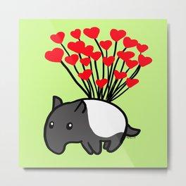 Tapir Love  Metal Print