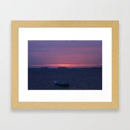 Thai sunset Framed Art Print