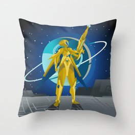 space suit science fiction soldier Throw Pillow