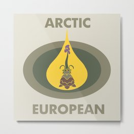 Artctic and European Metal Print