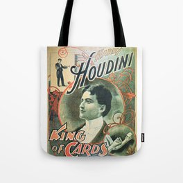 Houdini, king of cards, vintage poster Tote Bag